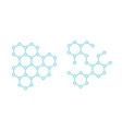 hormone hexagon structure molecule substance vector image vector image