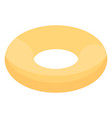 inflatable swim ring icon isometric style vector image