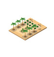 isometric 3d park vector image vector image