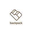 letter b for backpack symbol logo design te vector image