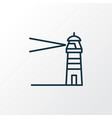lighthouse icon line symbol premium quality vector image