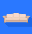living room sofa icon flat style vector image