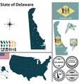 Map of Delaware vector image vector image