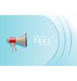 megaphone white bubble for social media marketing vector image