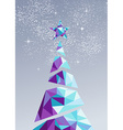 Merry christmas happy new year tree triangle 2016 vector image vector image