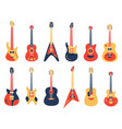 musical guitar acoustic electric rock and jazz vector image