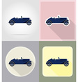 old retro transport flat icons 02 vector image vector image