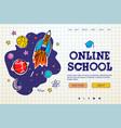 online school digital internet tutorials and vector image vector image
