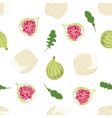 pattern with camembert vector image vector image