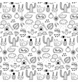 pattern with hand drawn doodle lovely party vector image