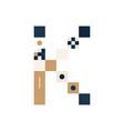 pixel art letter k colorful letter consist of vector image vector image
