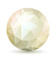 Polygonal sphere vector image
