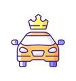 premier cars rgb color icon vector image vector image