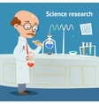 Scientist doing research in a laboratory vector image vector image