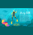 scuba diver explores the sea vector image
