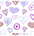 seamless hearts pattern-04 vector image vector image