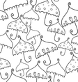 seamless pattern of fantasy umbrellas vector image vector image