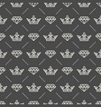 seamless pattern with crown symbol vector image vector image