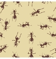 Seamless pattern with cute many brown ants on vector image