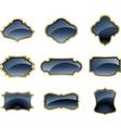 set glass labels vector image