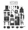 set icon of kitchen vector image vector image