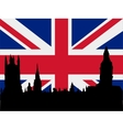 Silhouette of london vector image