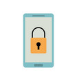smartphone device security protection access data vector image vector image