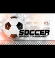 soccer scoreboard poster design football vector image