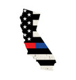 state california police and firefighter vector image vector image