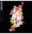 summertime floral poster plumeria flowers vector image vector image