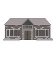 the school building is gray on a white background vector image vector image