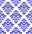 tile pattern damask style vector image vector image