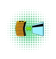 Transfer of cash to card icon comics style vector image vector image