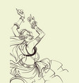 tribal fusion bellydance dancer contour graphic vector image vector image