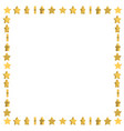 unusual frame with cute cartoon yellow stars vector image
