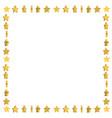 unusual frame with cute cartoon yellow stars vector image