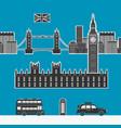 england london elements vector image
