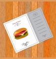 menu for fast food cafe vector image