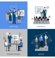 Business Training 2x2 Images Set vector image