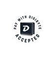 digibyte digital asset accepted concept dgb vector image