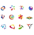 12 colorful symbols set 7 vector image vector image