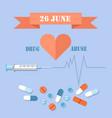 26 june day against drug abuse promotional banner vector image vector image