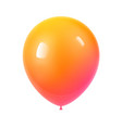 3d realistic colorful birthday balloon vector image vector image