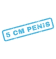 5 cm Penis Rubber Stamp vector image vector image