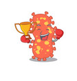 an elegant boxing winner bacteroides mascot vector image vector image