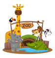 animal zoo vector image