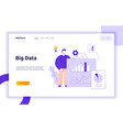 Big data web page banner concept