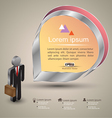 business man with tag modern vector image