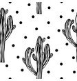 cactus seamless pattern with saguaro cacti fabric vector image vector image