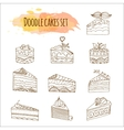 cake Set of 12 hand drawn vector image